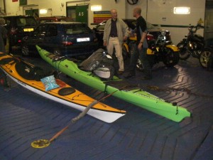 Sea kayaks on the ferry image