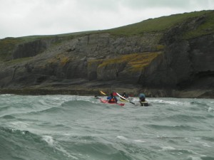 Sea Kayaking Downwind Image
