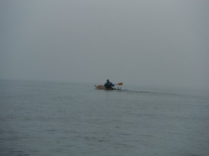 Sea Kayaking into the Mist Image