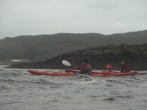 Sea Kayak surfing Scotland Image