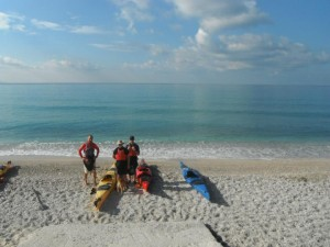 Kefalonia Sea Kayaks on Beach Image