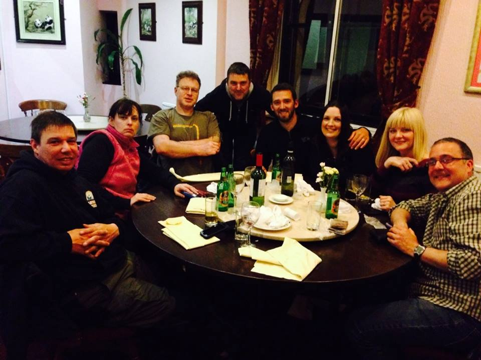 Mike, Shelley, Eurion, Simon, Stuart, Hannah, Julia and Chris