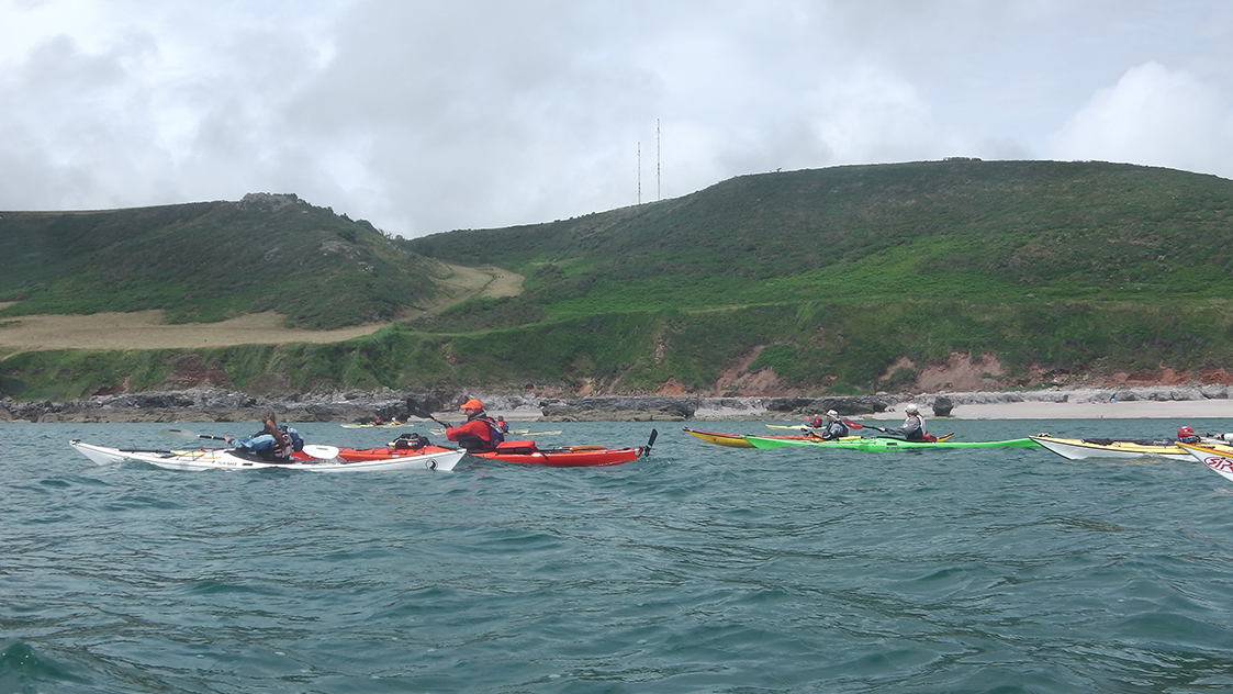 Sea kayaking in South Devon Image