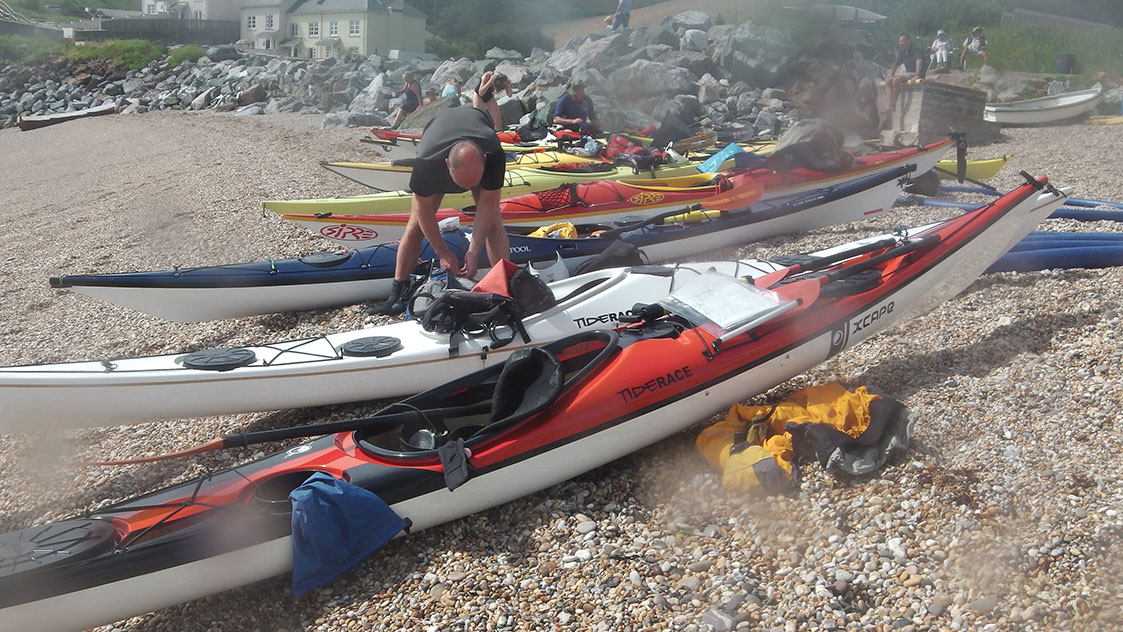 Sea kayaks in South Devon