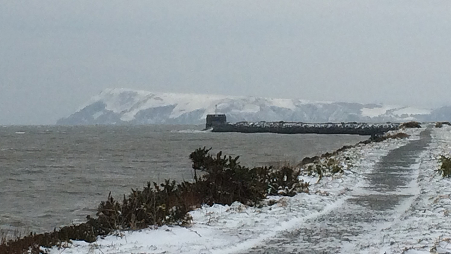 Dinas Head, Pembrokeshire in the snow image